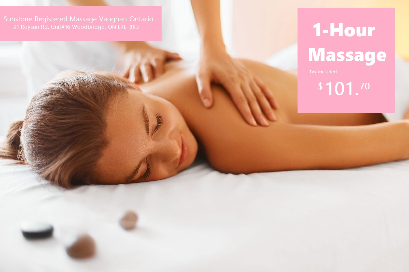 Sunstone Registered Massage 1 Hour Massage Home Vaughan Ontario