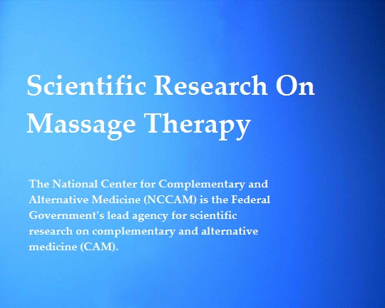 Scientific Research On Massage Therapy