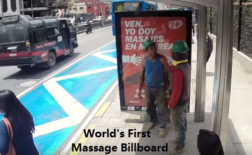 World's First Massage Billboard