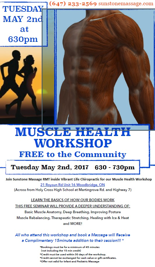 Muscle Health Free Workshop Vaughan Ontario