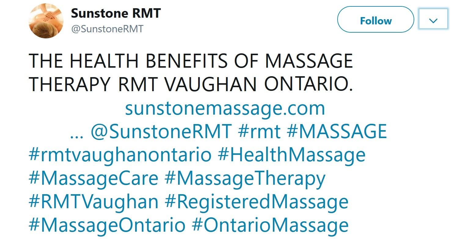 Reading Massage Tweets Why Everyone Loves Massage Sunstone Vaughan Ontario Massage Therapy