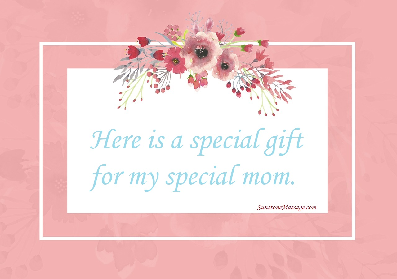 Here is a special gift for my special mom Happy Mother's Day RMT Vaughan Massage