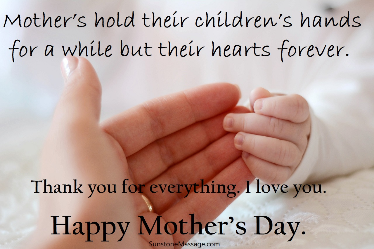 Mother's Hold Their Children's Hands For A While But Their Hearts Forever Sunstone RMT Vaughan
