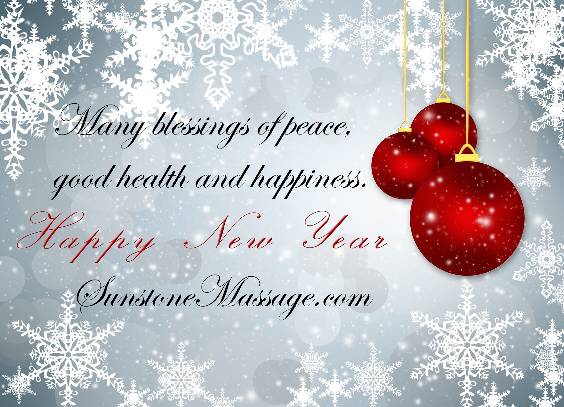 Many Blessings Of Peace, Good Health And Happiness For The New Year