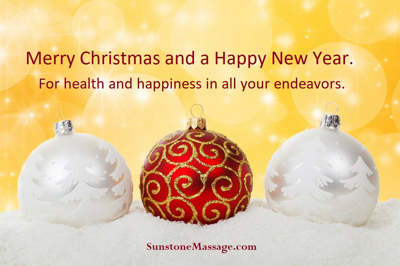 Merry Christmas And A Happy New Year For Health And Happiness In All Your Endeavors
