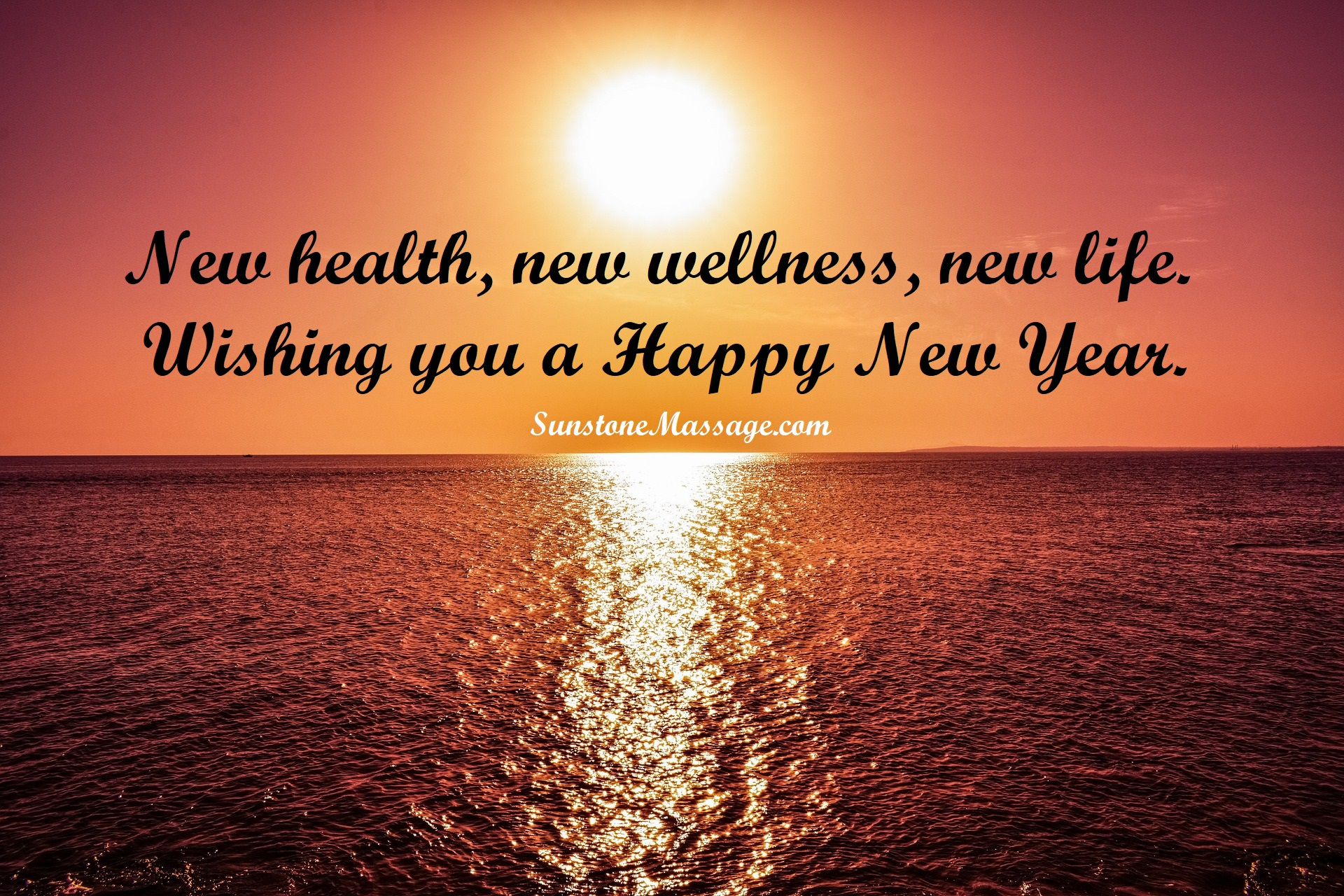 New Health New Wellness New Life Wishing You A Happy New Year